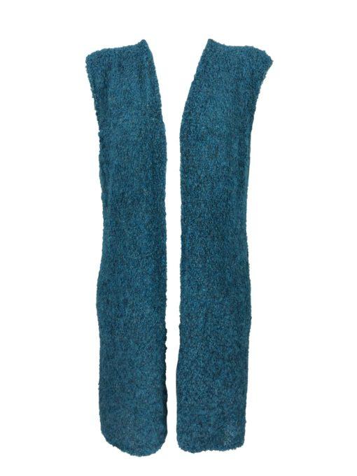 Strickweste, lang ,ärmellos, weiches und flauschiges Alpaka, ein locker sitzendes Kleidungsstück. 91% Alpaka.