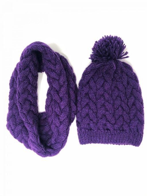 Alpaka Set, Wollmütze, Wollschal Haube-loop scarf-Alpaka set wollmütze, Woll scarf